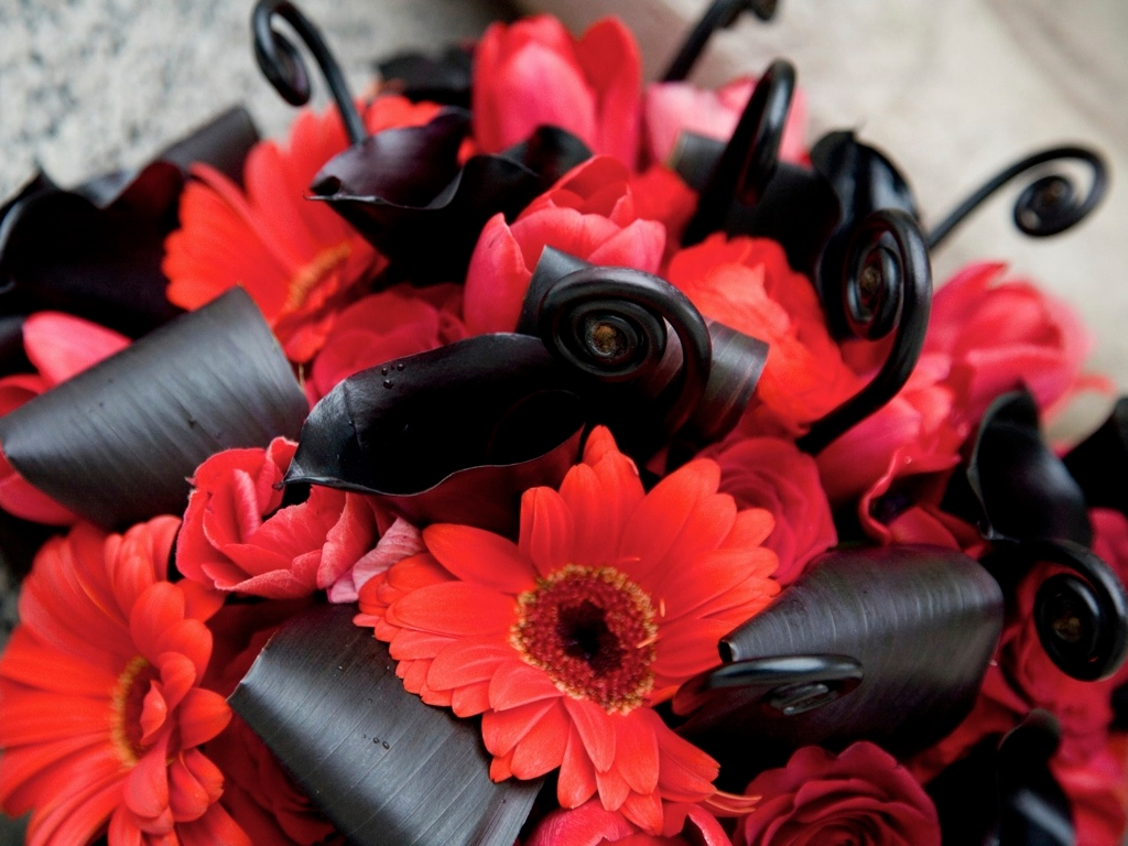 Best red and black wedding bouquets ideas styles ideas 2018 red black white wedding favorite of 2011 calie rose izmirmasajfo Choice Image