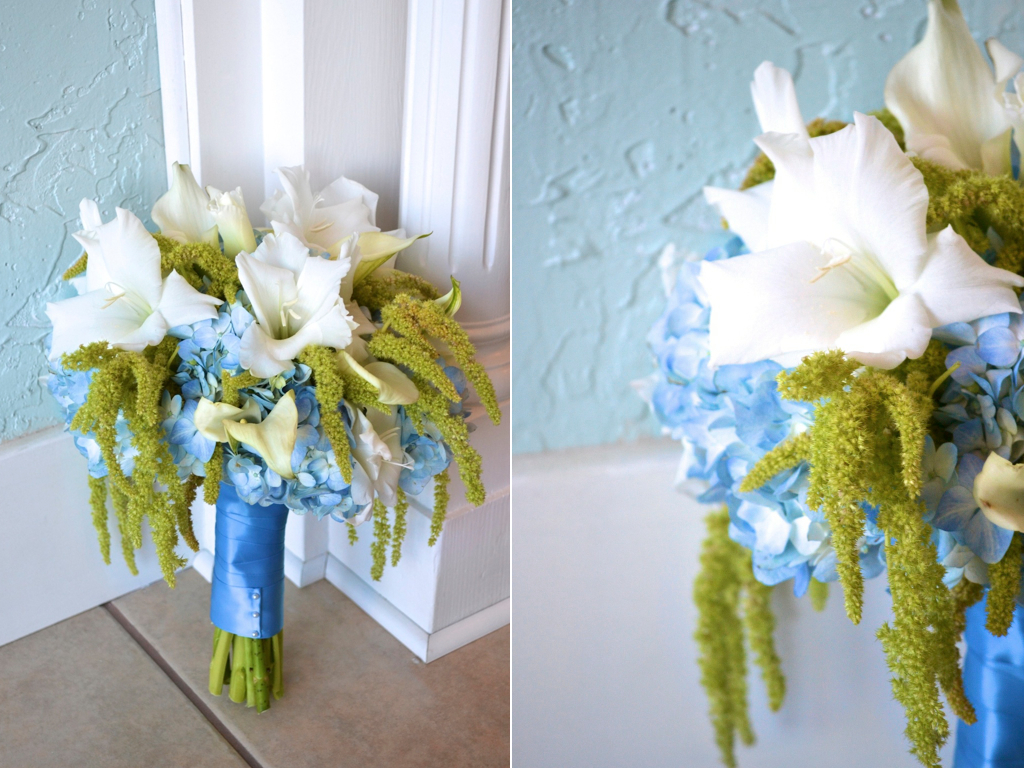 Merrili Adams Blue Green White Wedding Flowers Calie Rose