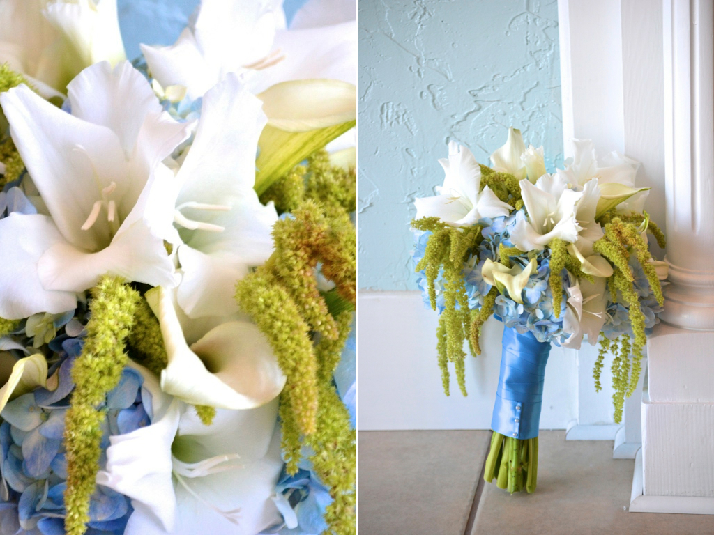 Flowers For Beach Wedding Merrili Adam S Blue Green White Wedding Flowers