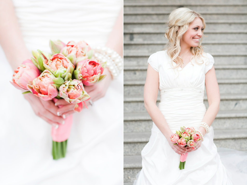 Coral Peony Tulip Wedding Bouquet Salt Lake Bridal Florist Calie Rose