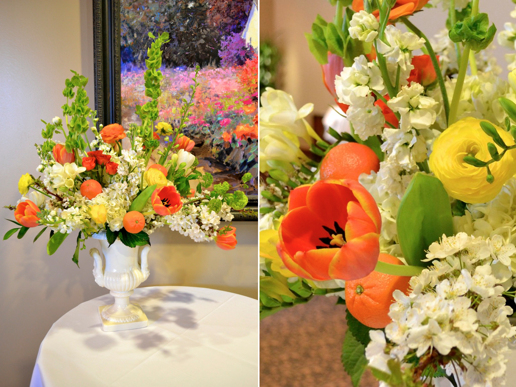 clementine flower arrangement wedding florist in utah calie rose