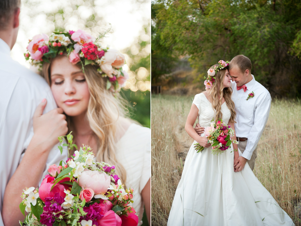 romantic wedding bouquet romantic flower head wreath utah wedding flowers calie rose