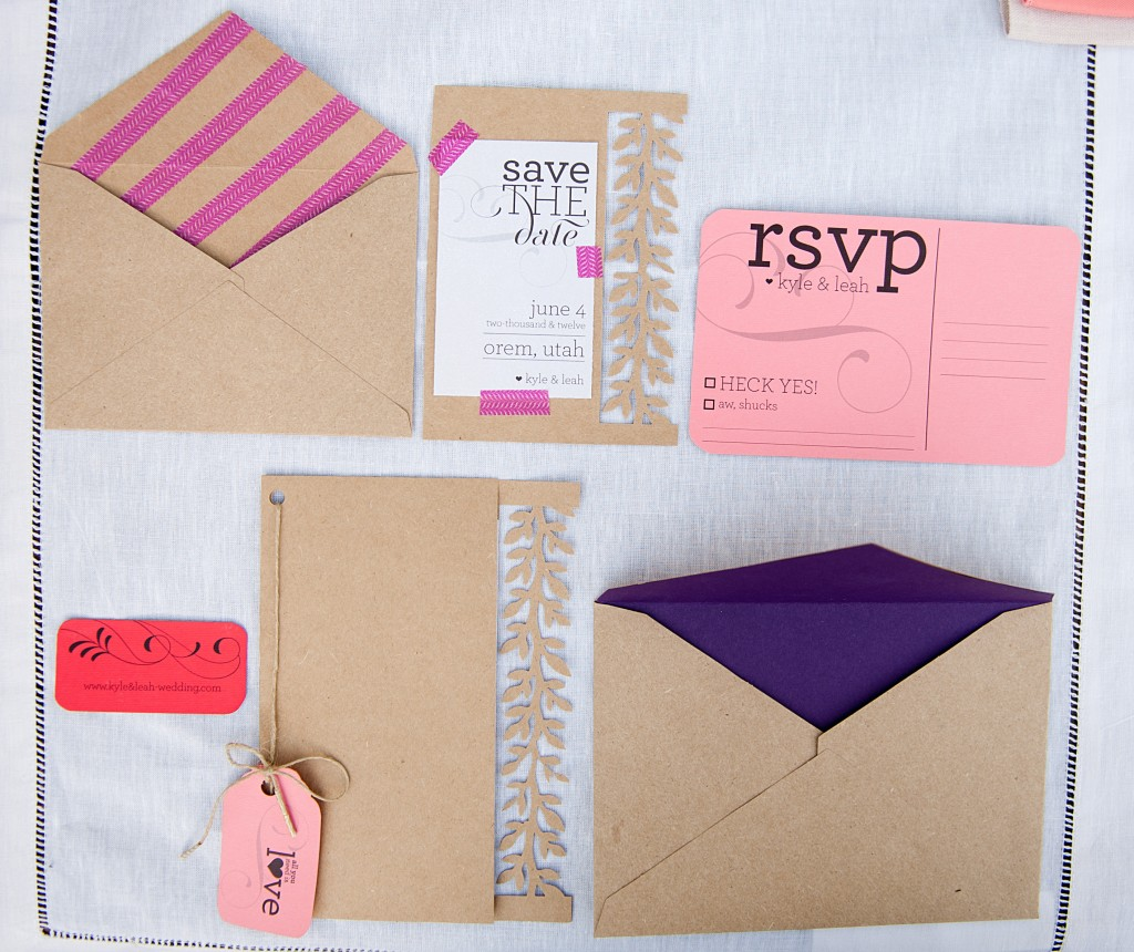 rustic+bright wedding invitations
