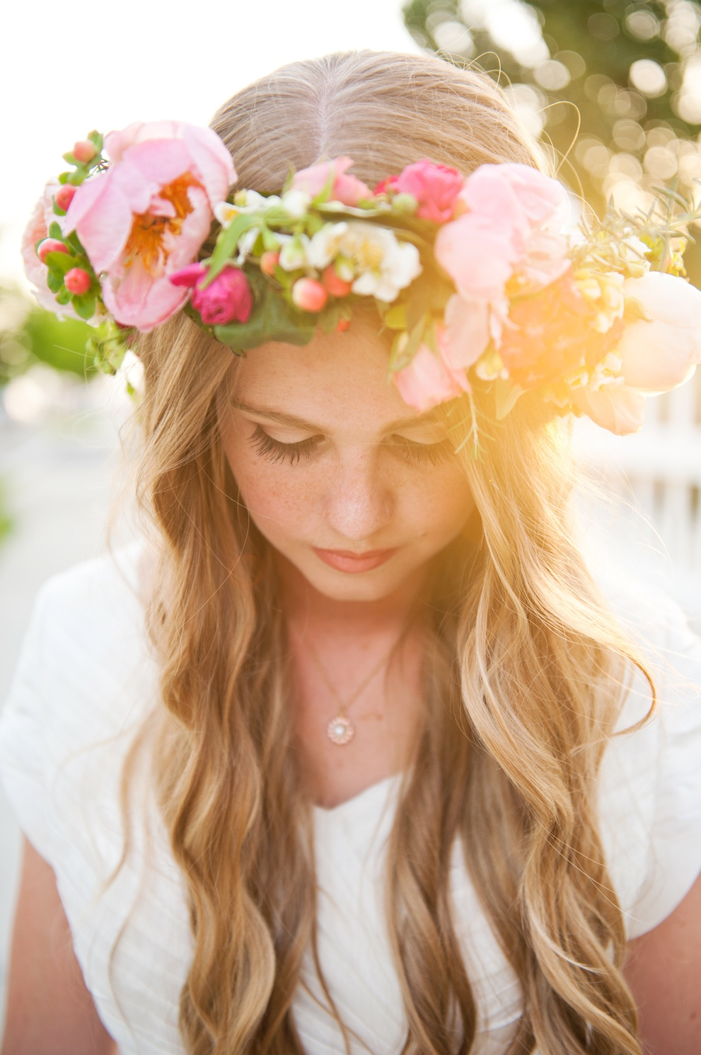 romantic flower head wreath wedding flowers utah calie rose