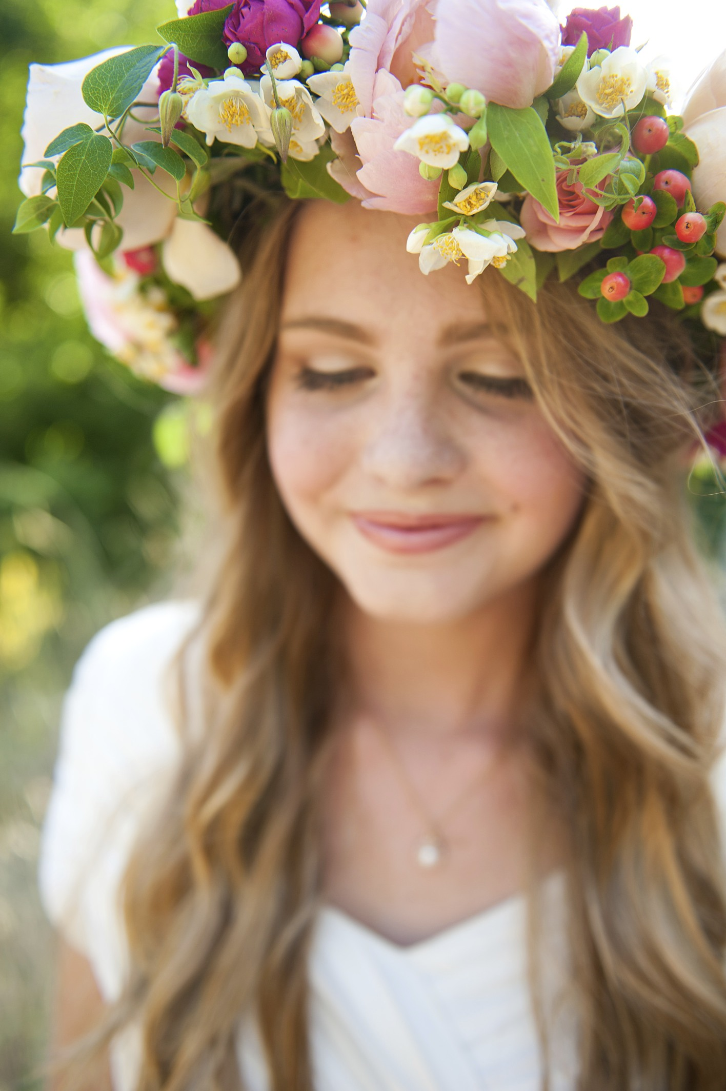 floral head wreath wedding flowers utah calie rose