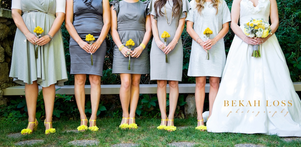 Yellow gray wedding flowers calie rose modern yellow billy ball bouquet utah wedding florist calie rose mightylinksfo
