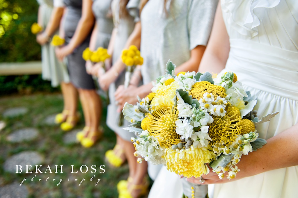 Yellow gray wedding flowers calie rose modern yellow wedding flowers utah calie rose mightylinksfo