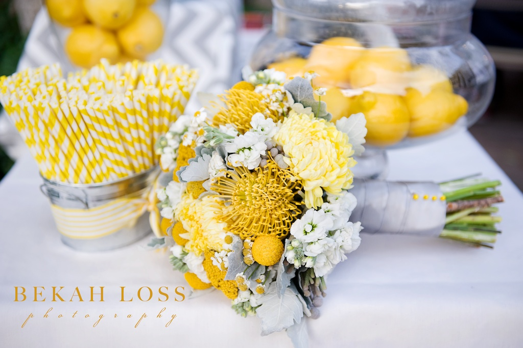 Yellow gray wedding flowers calie rose modern yellow gray wedding bouquet utah wedding florist calie rose mightylinksfo