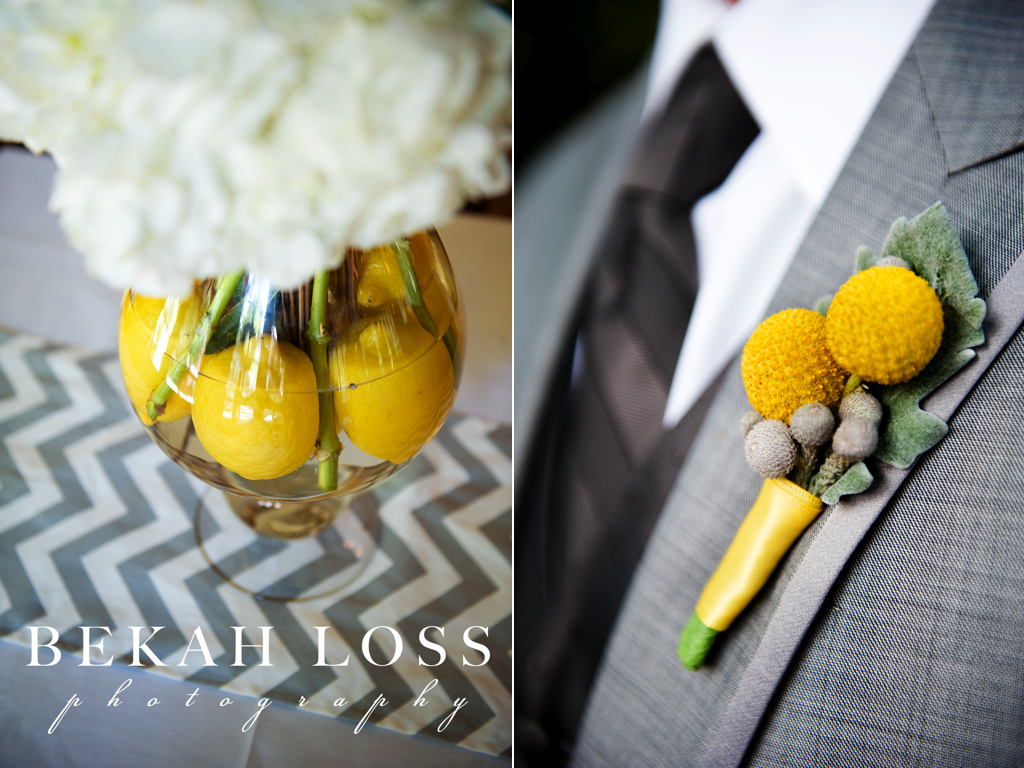 Yellow Gray Wedding Flowers Calie Rose