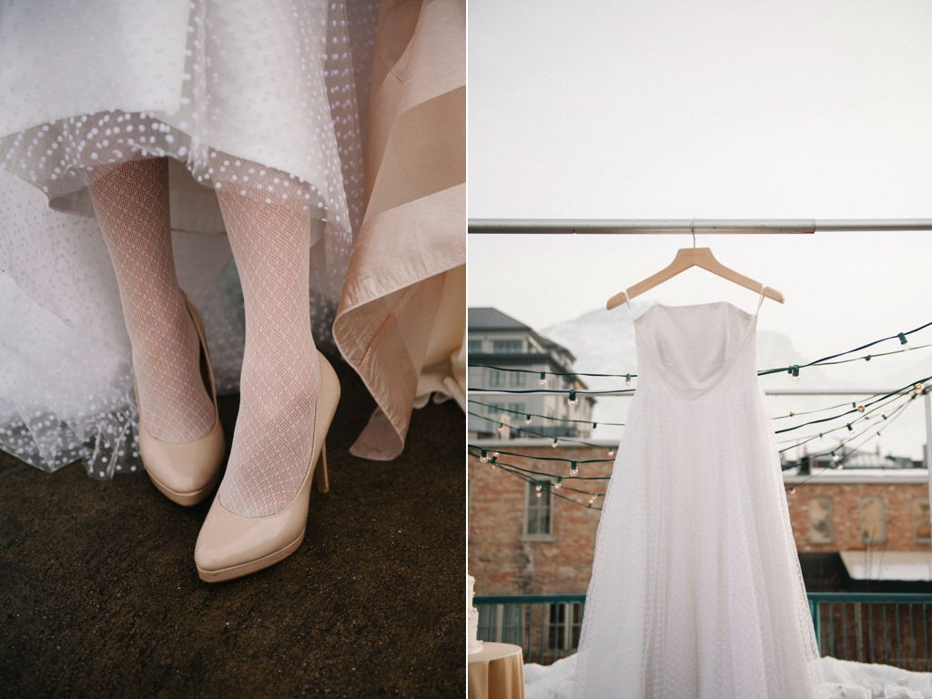 winter rooftop wedding inspiration