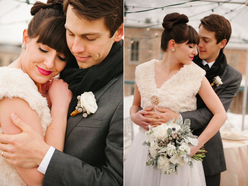 modern rooftop wedding inspiration modern white silver grey gold wedding flowers utah calie rose
