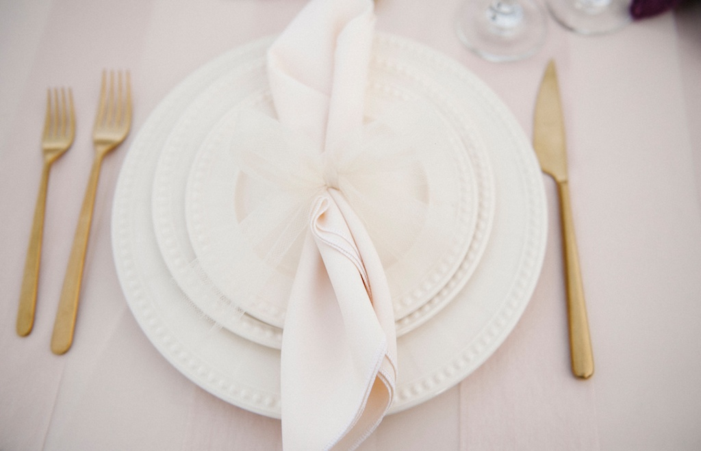 gold wedding flatware rooftop inspiration shoot