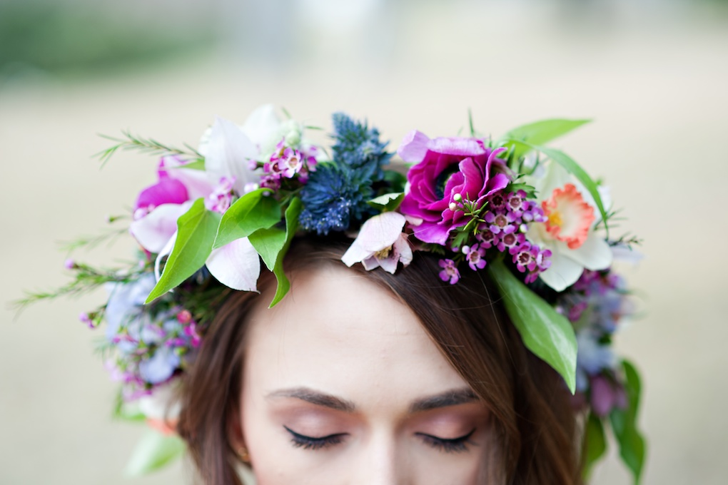romantic floral head crown utah wedding florist calie rose