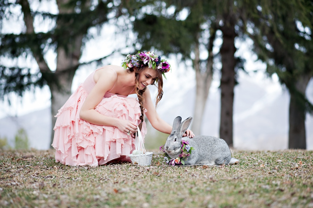 whimsical easter bunny flowers basket inspiration utah wedding flowers calie rose