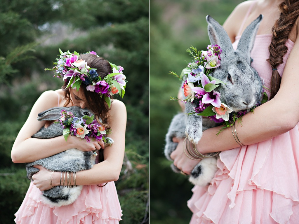 whimsical easter bunny inspiration flowers utah wedding florist calie rose