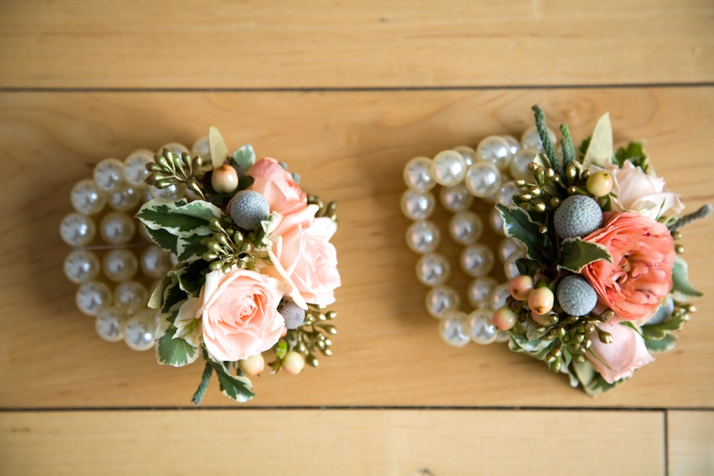 pearl flower bracelet utah wedding florist calie rose