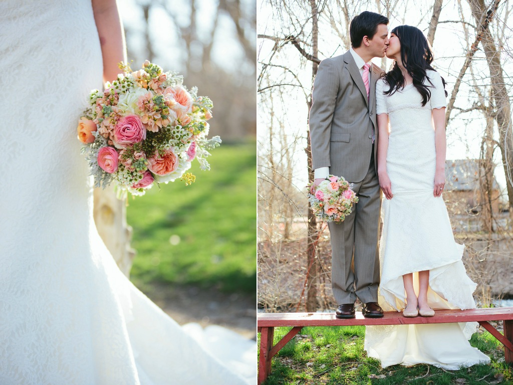 travis j photography wheeler farm wedding flowers utah calie rose blush stock blush garden rose wedding flowers