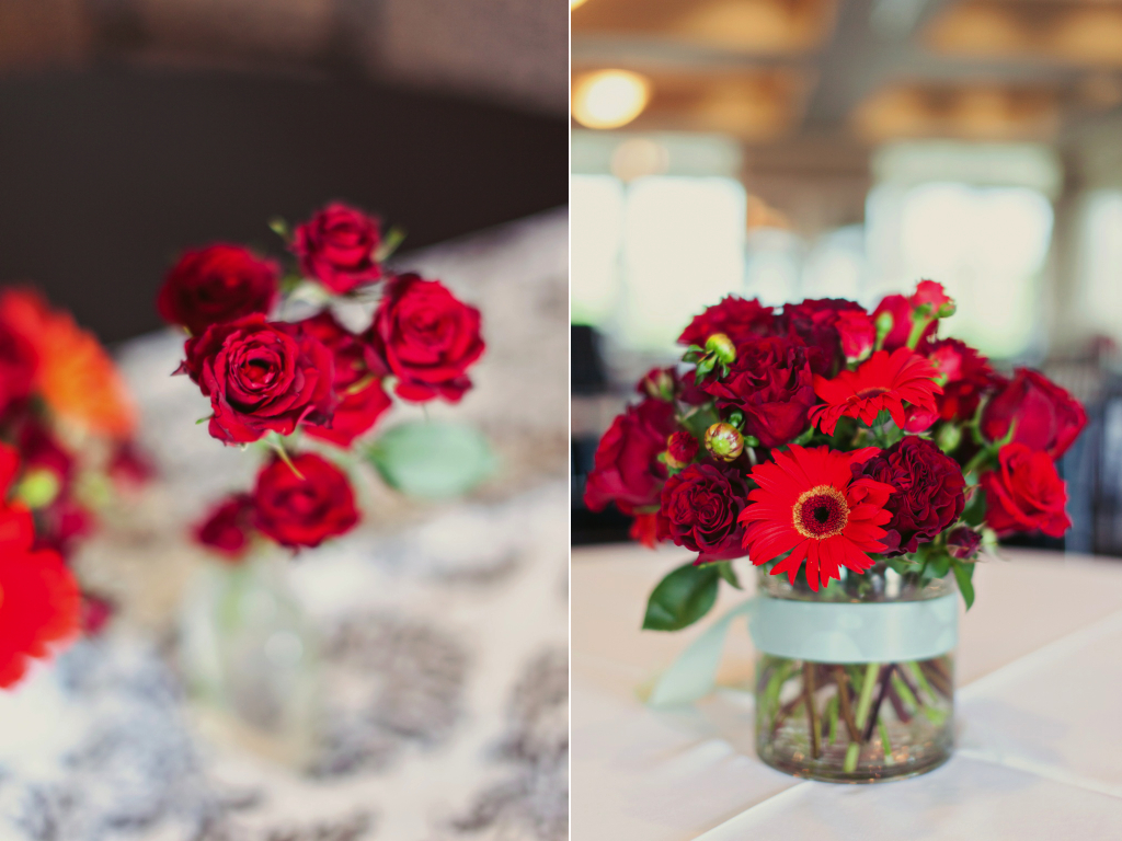 red rose centerpieces utah wedding florist calie rose stephanie sunderland photography sleepy ridge weddings