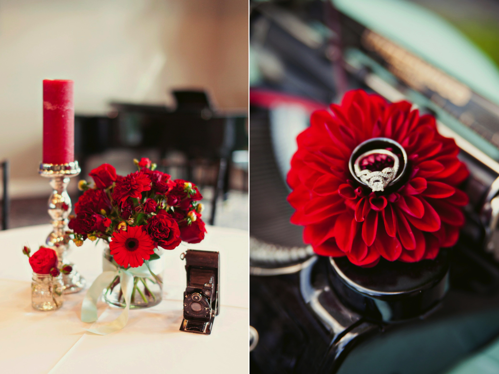 classic red black wedding flower centerpiece sleepy ridge utah wedding calie rose stephanie sunderland photography