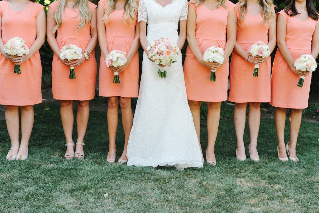Coral Peach Blush Ivory Wedding Flowers at Thanksgiving Point ...