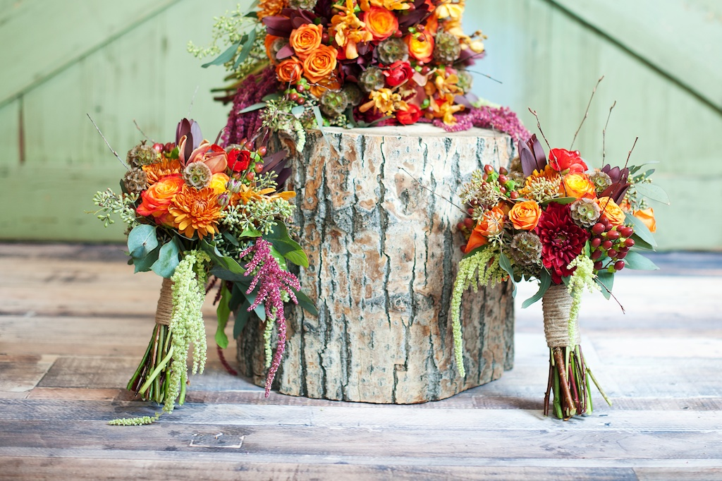 Pumpkin inspired fall wedding thanksgiving centerpieces utah bright red orange green wedding flowers utah florist calie rose bright rustic fall junglespirit Choice Image