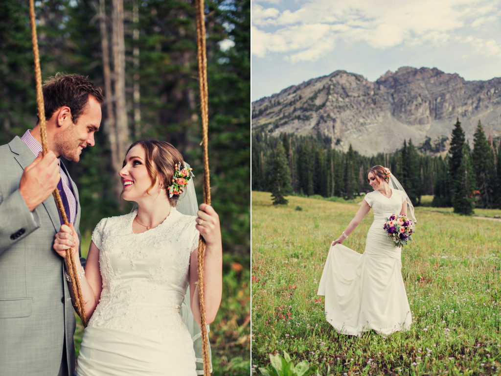 utah mountain bridals peach mint plum inspired wedding flowers calie rose stephanie sunderland photography