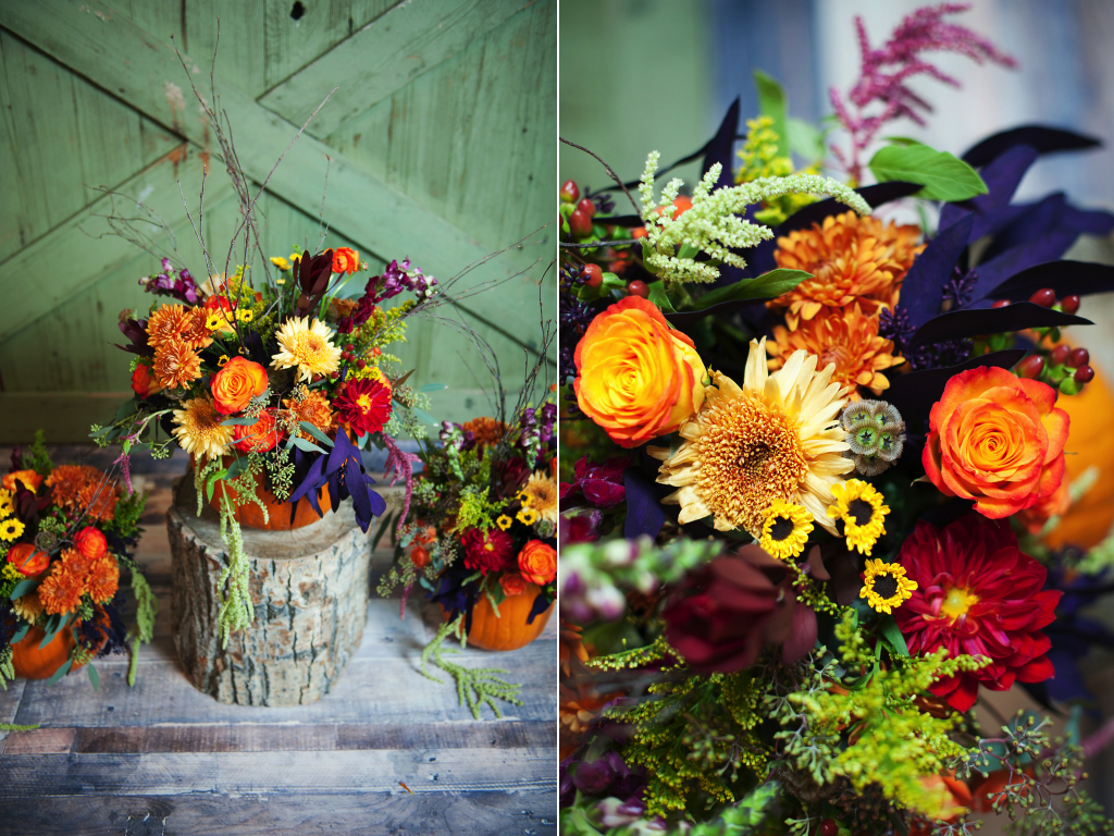 utah wedding florist calie rose pumpkin centerpiece pumpkin thanksgiving centerpieces kristina curtis photography
