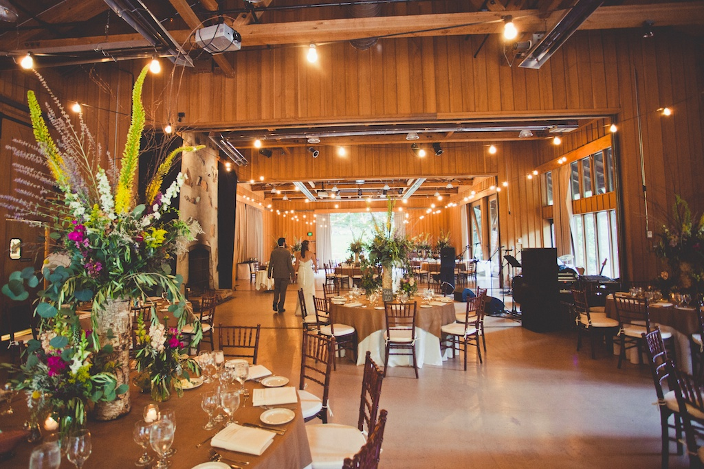 Tall birch centerpiece Sundance Resort Wedding utah florist calie rose sarah kathleen photography