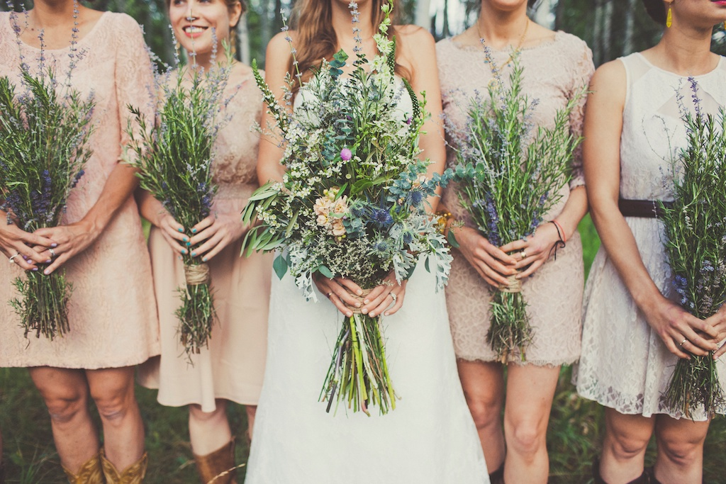 rosemary lavender bouquets wildflower inspired wedding sundance resort utah florist calie rose sarah kathleen photography