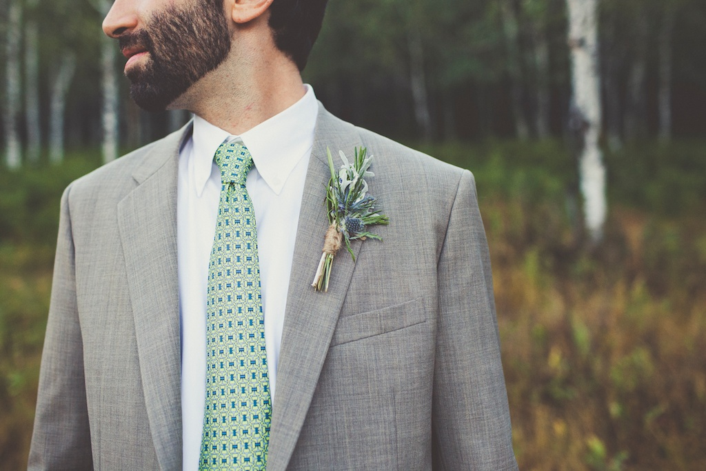 rosemary thistle boutonniere sundance resort wildflower mountain inspired wedding utah florist calie rose sarah kathleen photography