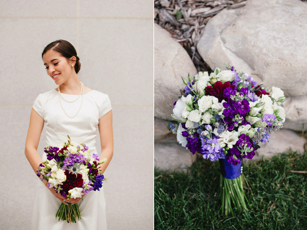 Sundance resort wildflower inspired purple wedding utah florist calie rose mikki platt photography