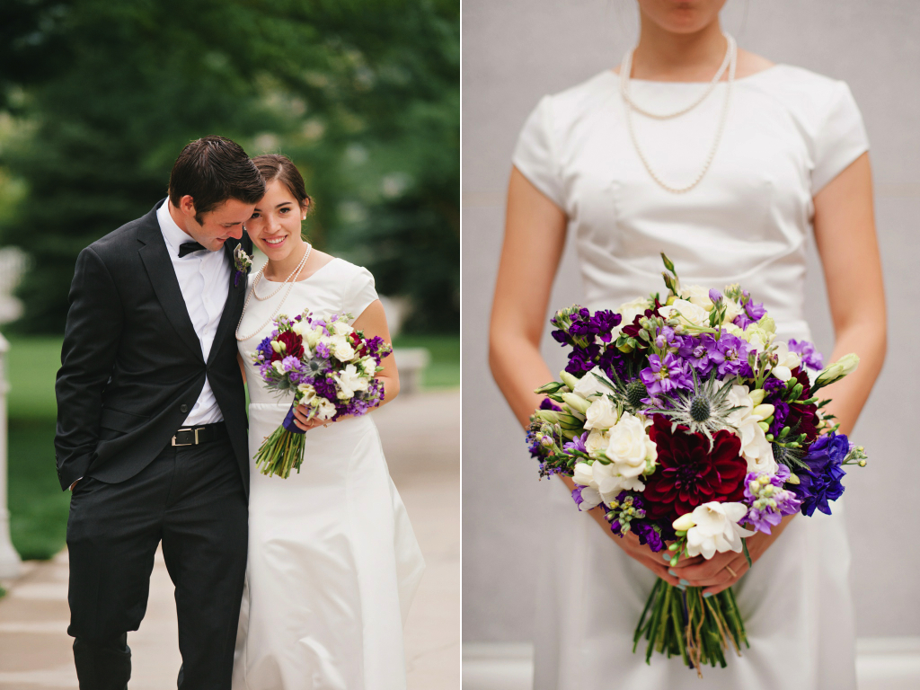 Sundance resort wedding florist calie rose wildflower inspired purple wedding mikki platt photography