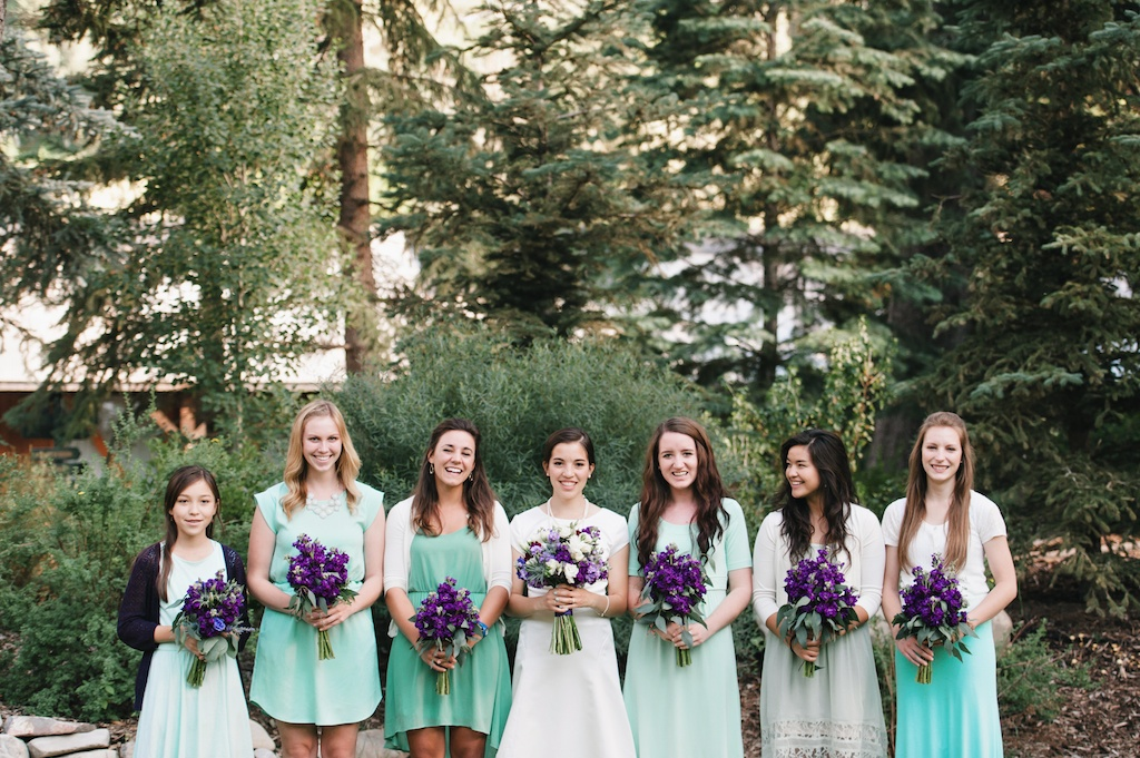 Sundance resort sea foam purple wedding flowers utah calie rose mikki platt photography