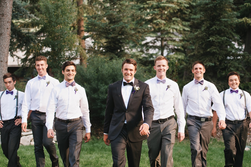 Sundance resort purple wedding men's boutonnieres utah florist calie rose mikki platt photography