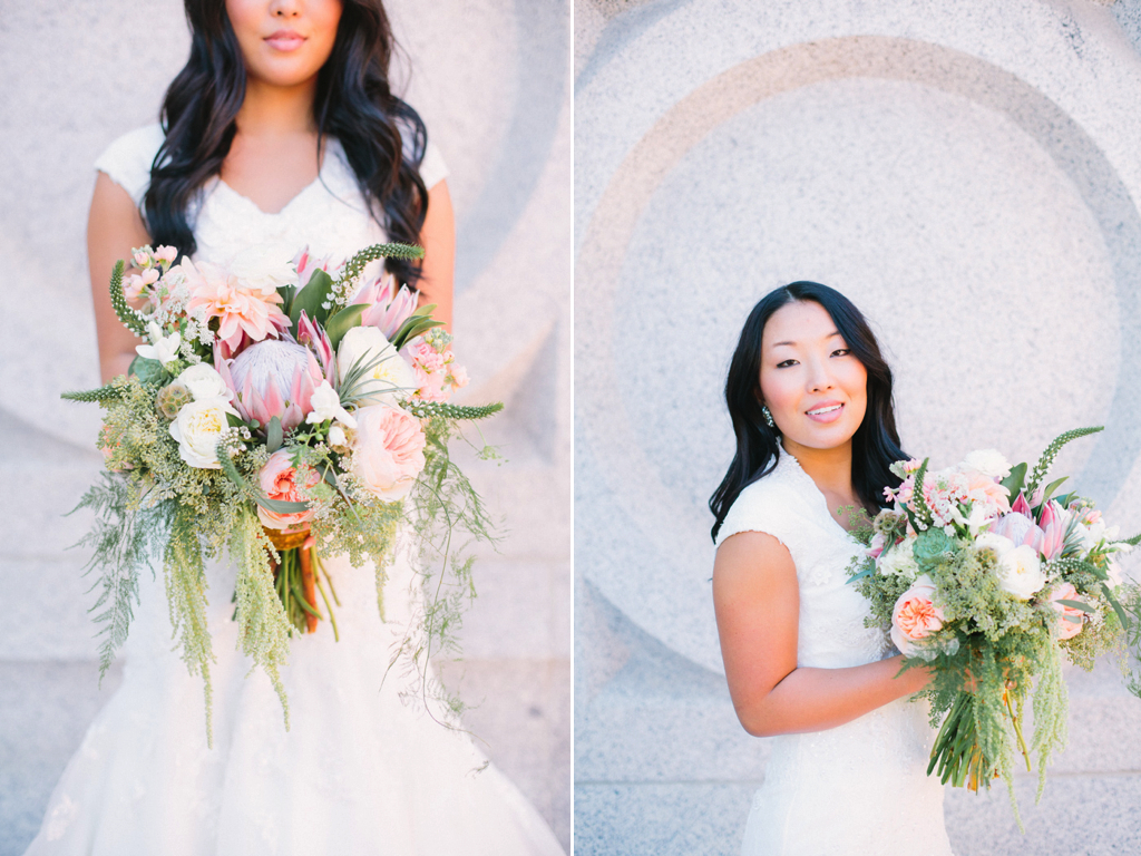 Blush Gold Ivory Organic Inspired Wedding Flowers Utah Calie Rose