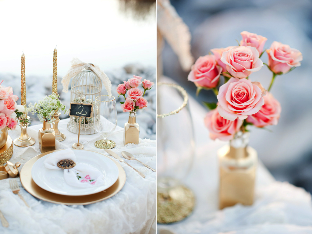 Gold + Peach Mother Daughter Bridal Inspiration