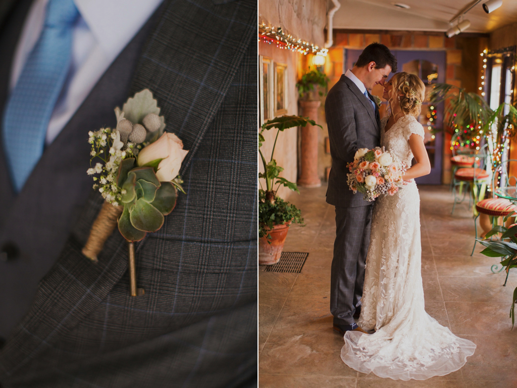 Jane Austen Inspired Wedding flowers utah calie rose alixann loosle photography La Caille Utah Wedding vintage key boutonniere