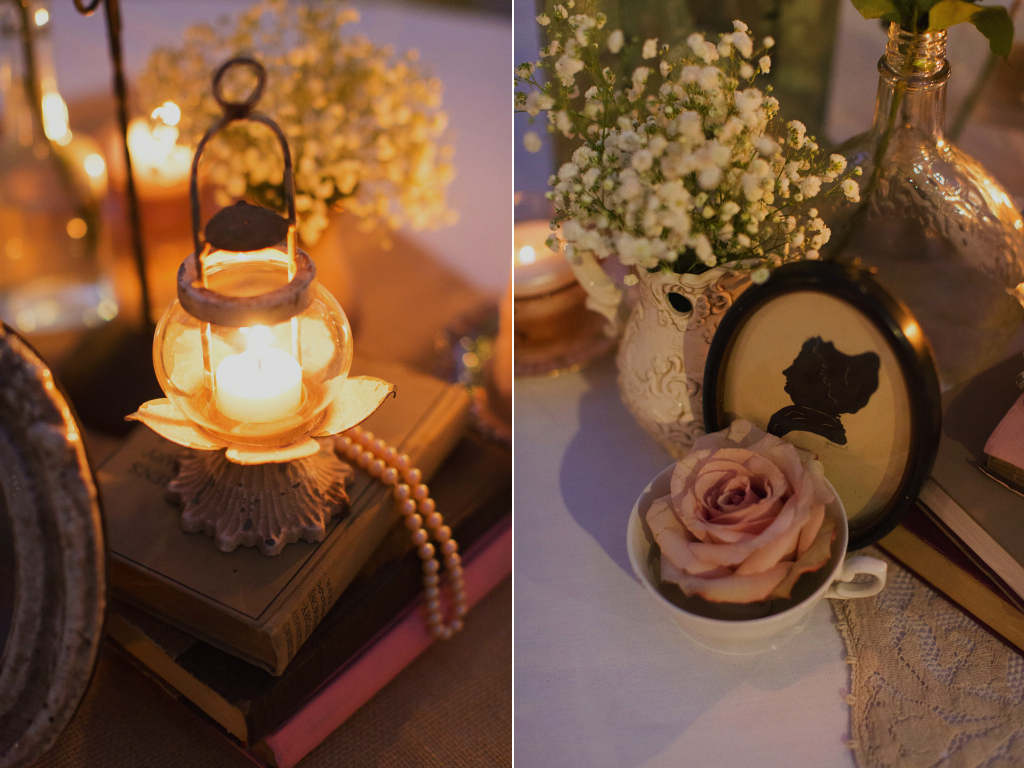 Jane Austen Inspired Wedding centerpieces La Caille utah wedding flowers calie rose alixann loosle photography