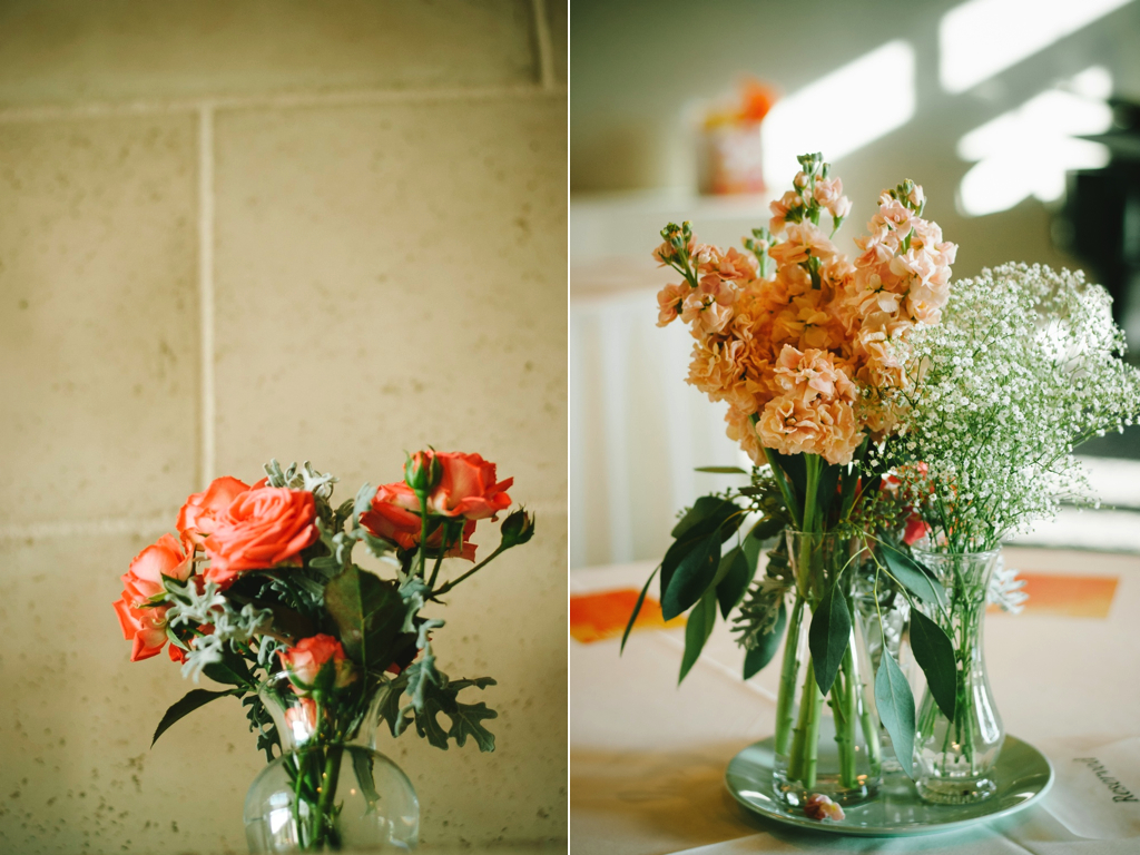 Coral Peach Wedding Flowers At Sleepy Ridge Reception Center Utah