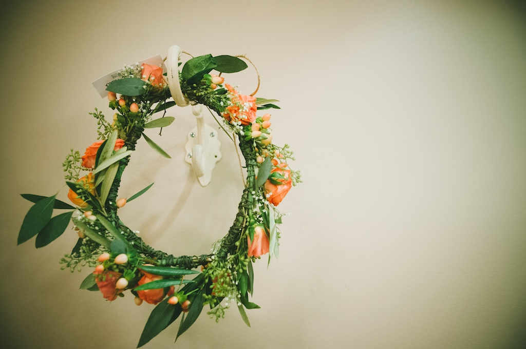 peach coral wedding halo calie rose utah florist chantel marie photography