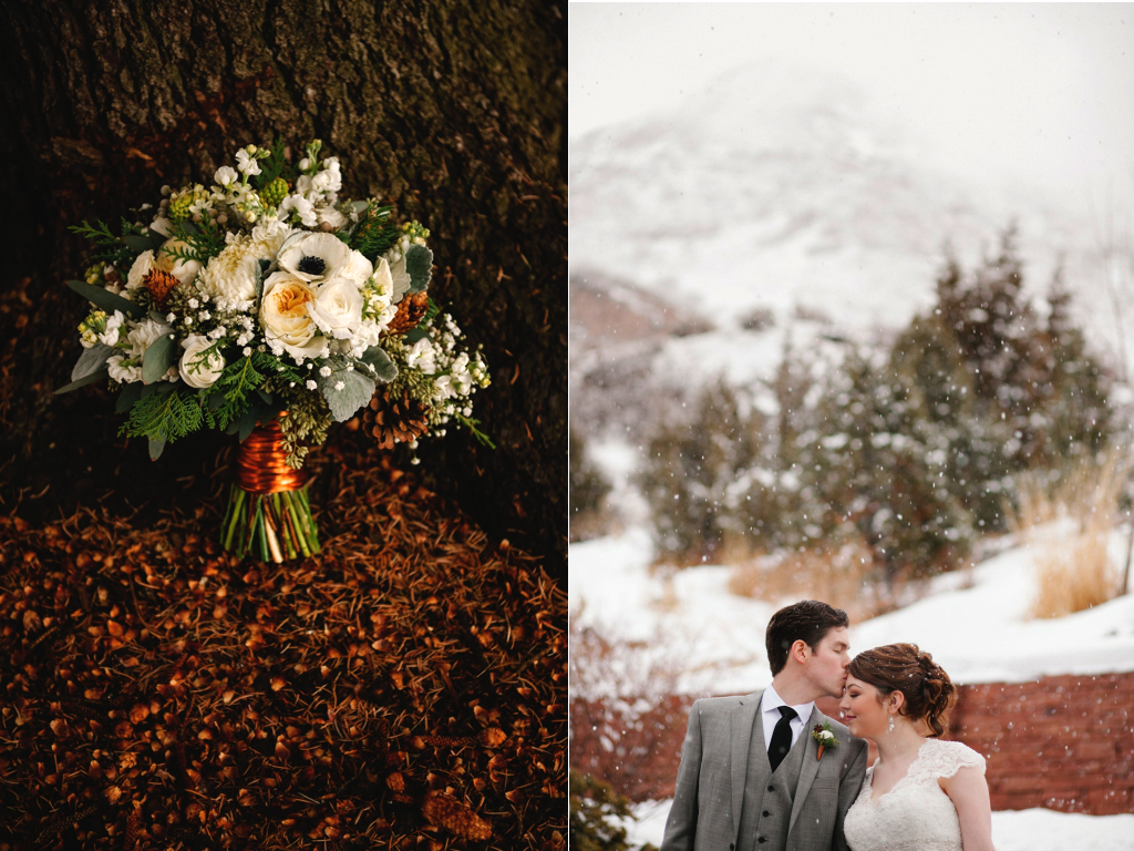 copper inspired wedding flowers bouquet winter wedding bouquet red butte gardens winter wedding utah florist calie rose