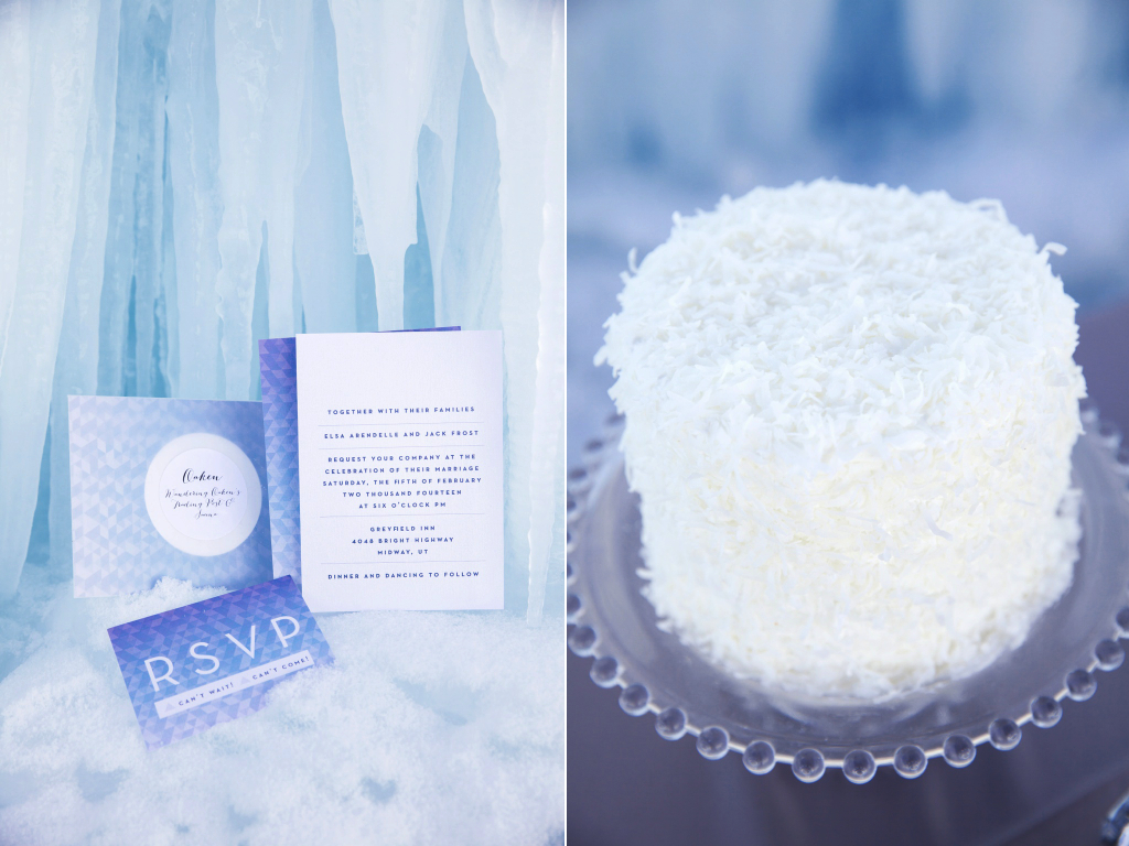 Disney's Frozen Inspired Wedding Shoot midway ice castles calie rose wedding flowers utah florist meredith carlson photography winter wedding