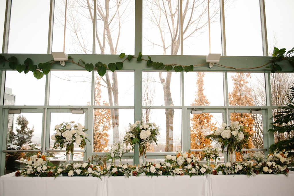 Copper inspired wedding red butte gardens wedding utah wedding florist calie rose
