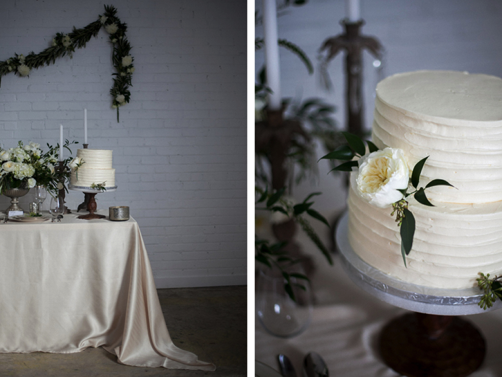 white garden rose cake flowers utah wedding calie rose mary claire photography