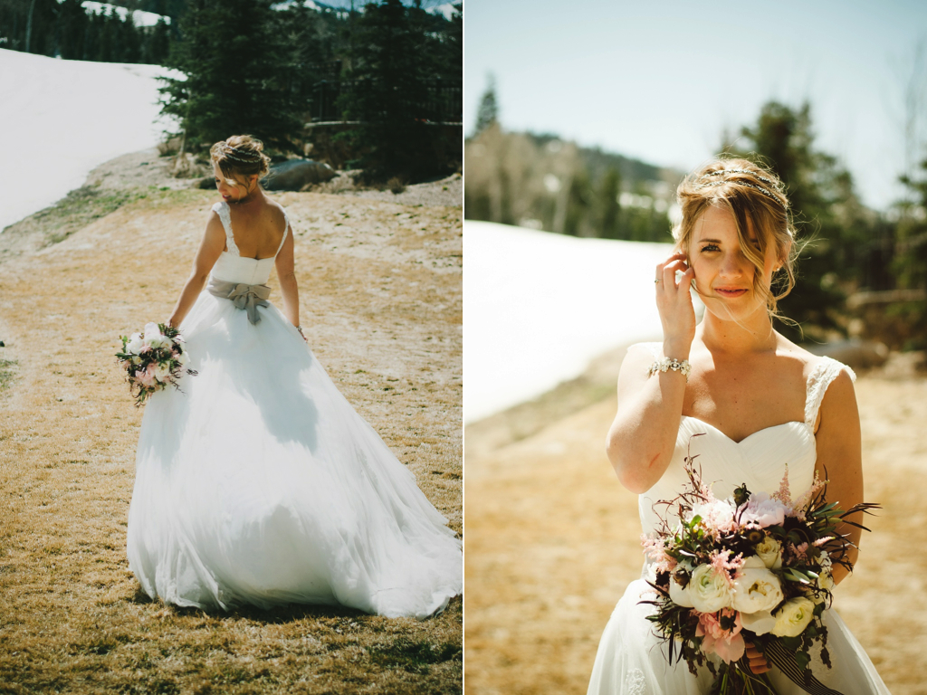 St. Regis Park City Snowy Mountain Wedding Flowers Utah Calie Rose