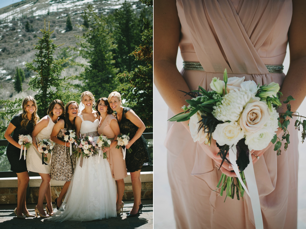 St. Regis Park City Snowy Mountain Wedding Flowers Utah Calie Rose Blush Wedding Flowers