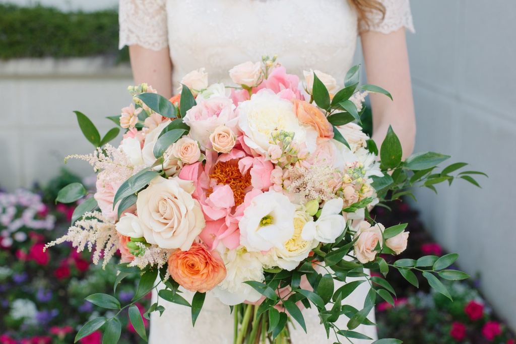 coral peony wedding bouquet utah wedding flowers calie rose