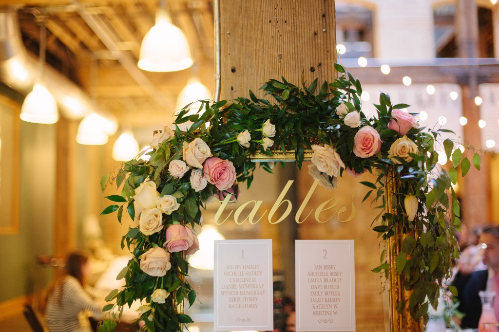 Salt Lake Hardware Building Wedding flower garland table garland wedding flowers utah calie rose