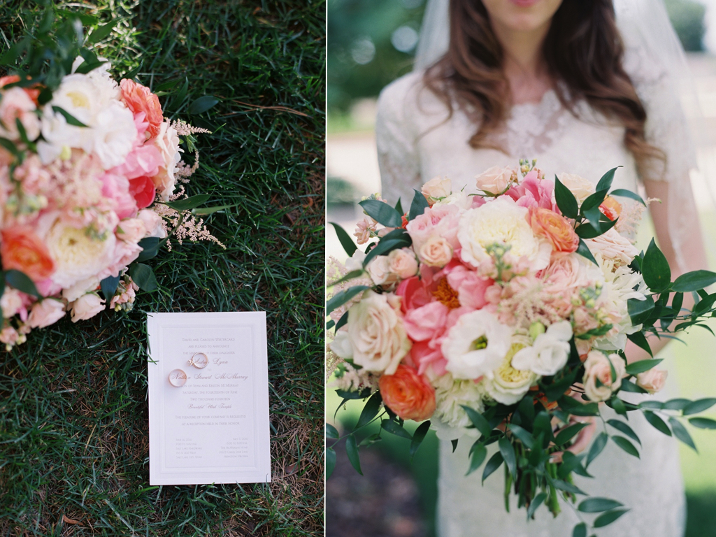 Salt Lake Hardware Building Wedding coral peach blush wedding bouquet flowers utah calie rose
