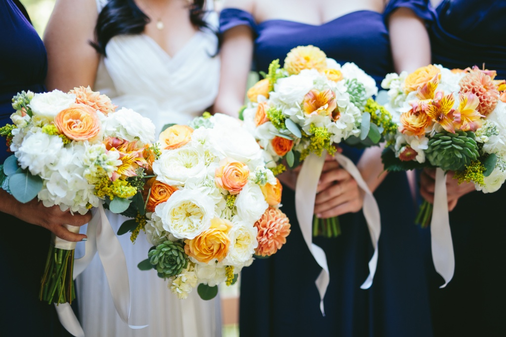 Calie rose wedding flowers utah navy orange white yellow green wedding flowers calie rose sundance resort wedding utah mightylinksfo